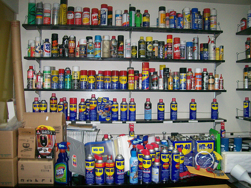 Can you ever have too much WD-40? Obviously not. (Photo Courtesy of Be Frugal.)