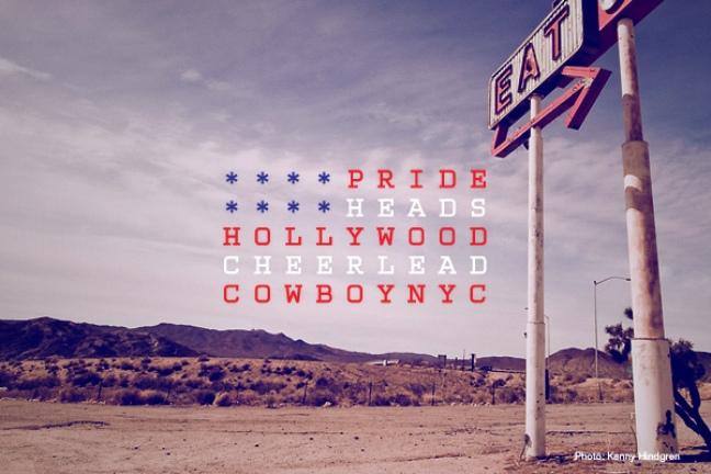 pride flag USA typography