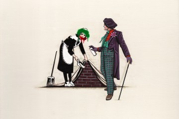 Joker Tags Over Banksy. (Courtesy of Kiersten Essenpreis.)