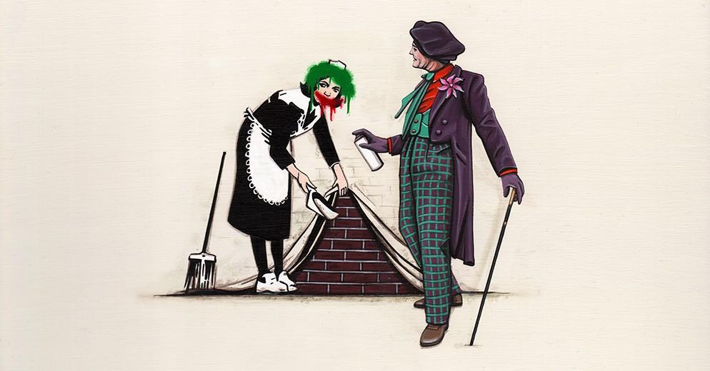 Joker Tags Over Banksy. (Courtesy of Kiersten Essenpreis.)