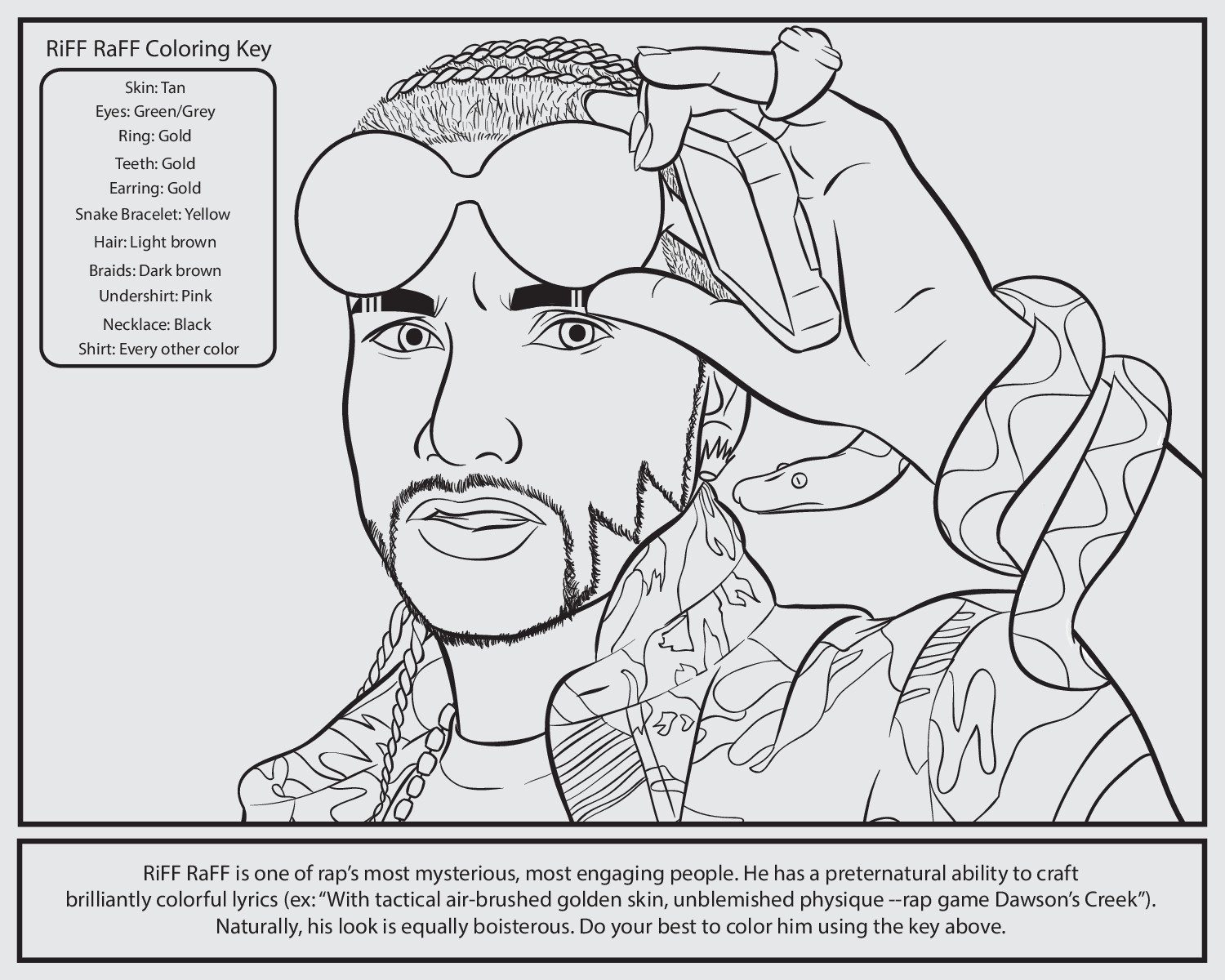 Free coloring pages of drake rapper for Drake coloring pages