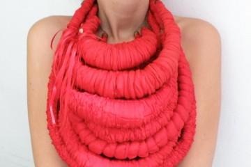 Quiet_Lunch_Magazine_Red Vampire Halloween Bib Necklace