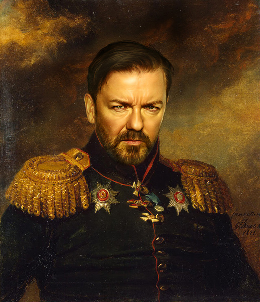 Ricky Gervais. (Courtesy of Replaceface.)
