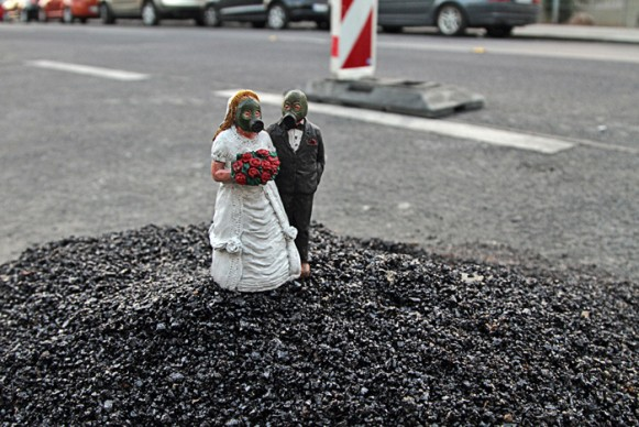Black River Festival in Vienna, Austria. (Courtesy of Isaac Cordal.)