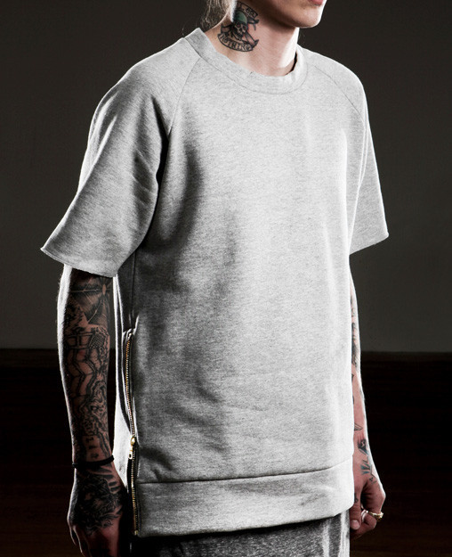 Essential Short-Sleeve Crewneck Sweatshirt.