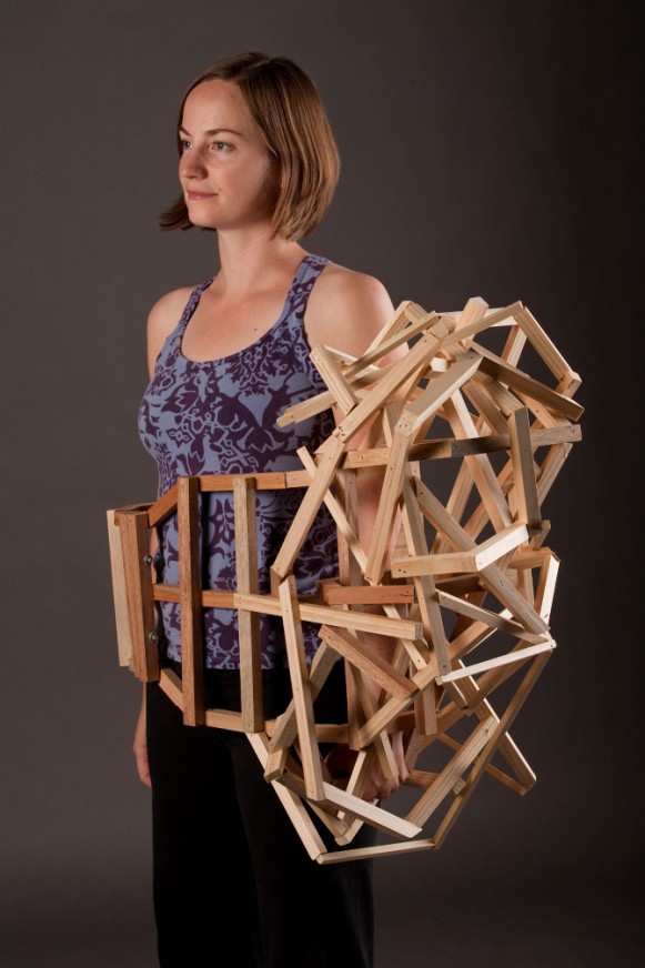 Wearable Structure: Side Bump, 2010. (Courtesy of Tracy Featherstone.)
