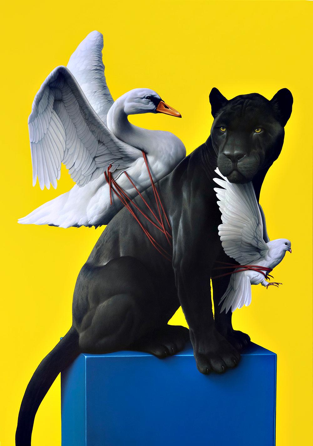 SERENITY (2012) Acryl auf Leinwand, 200 x 140 cm. (Courtesy of Eckhart Hahn.)