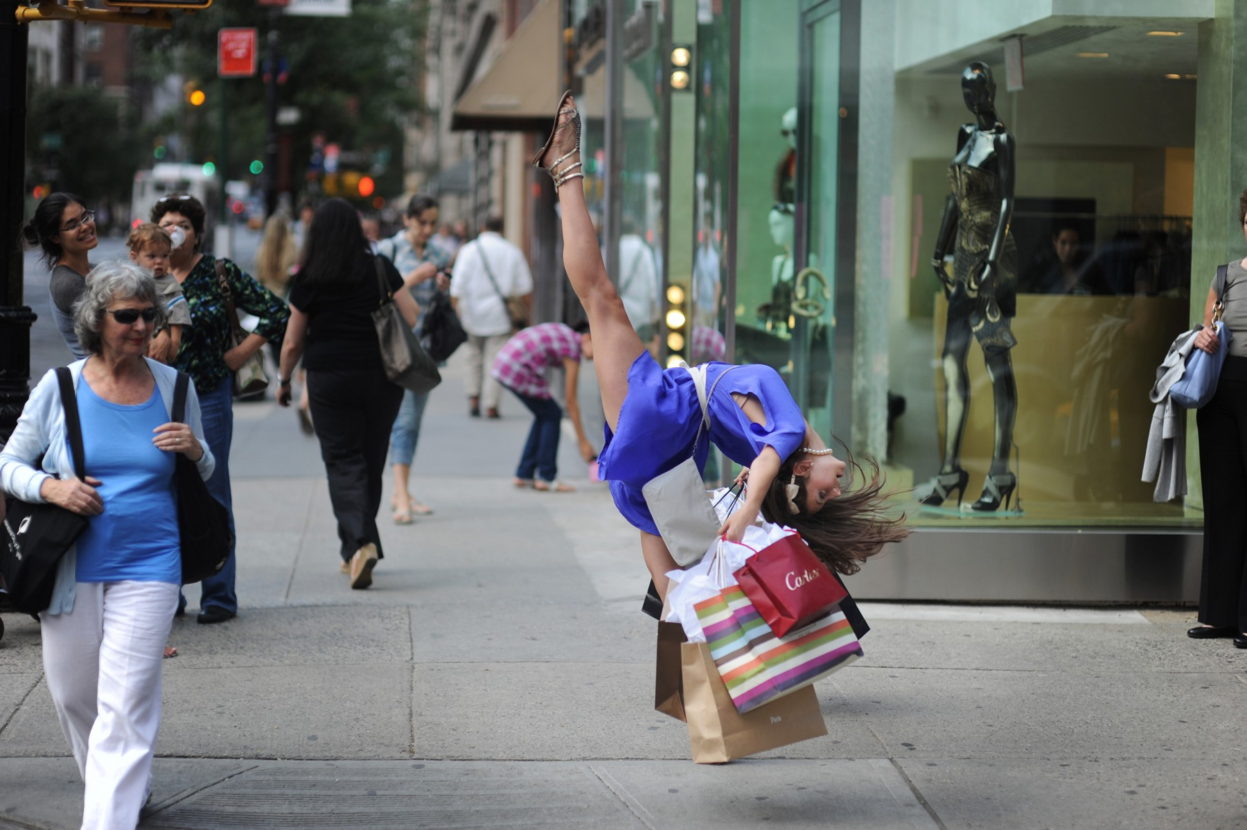 Arianna Bickle on Madison Avenue. (Courtesy of Jordan Matter.)