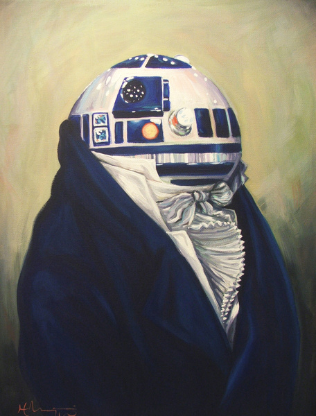 """Duke R2-D2"" - Based on on Francois-Xavier Fabre's ""Portrait Of A Man"""