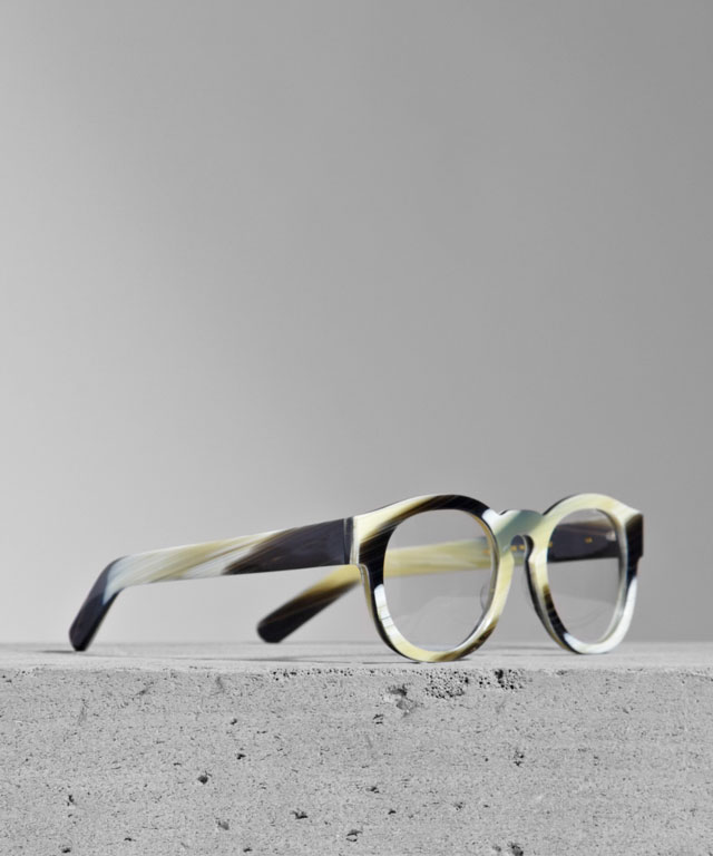 Larke Unisex Gill Horne Glasses. (Courtesy of Larke.)