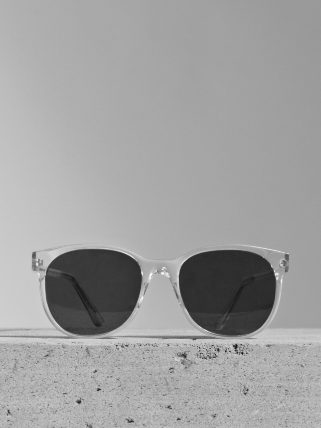 Larke Unisex Horne Clear Sunglasses. (Courtesy of Larke.)