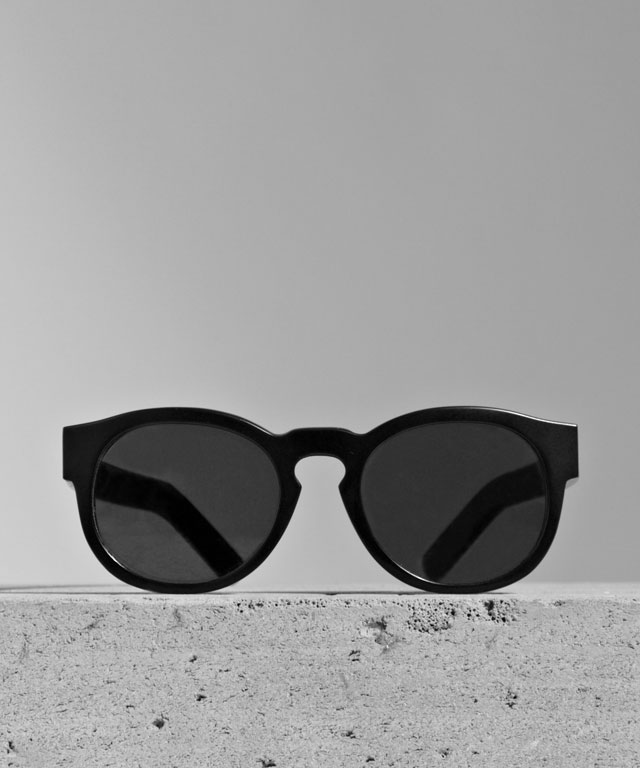 Larke Unisex Gill Matt Black Sunglasses. (Courtesy of Larke.)
