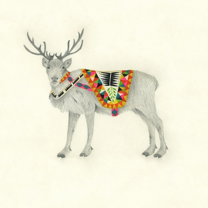 Male Reindeer. | Lisa Congdon.