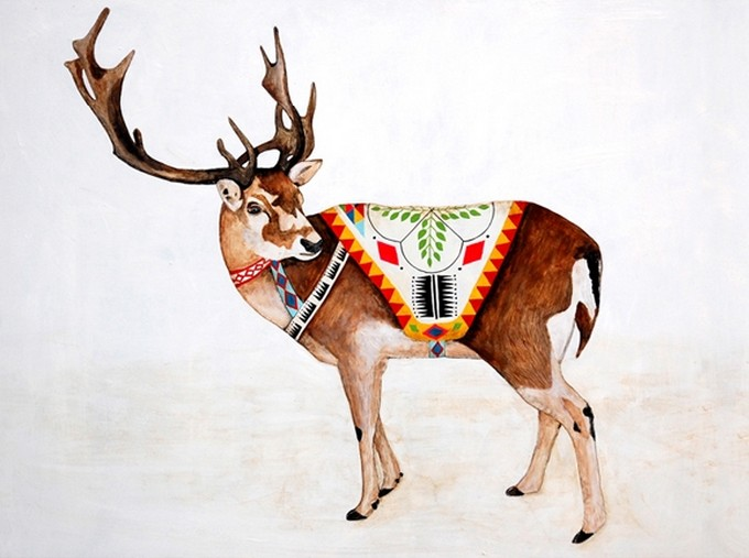 Reindeer. | Lisa Congdon.