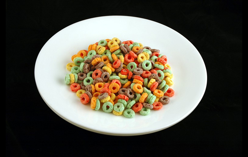 Fruit Loops Cereal. | 51 grams = 200 Calories.| Courtesy of wiseGEEK.