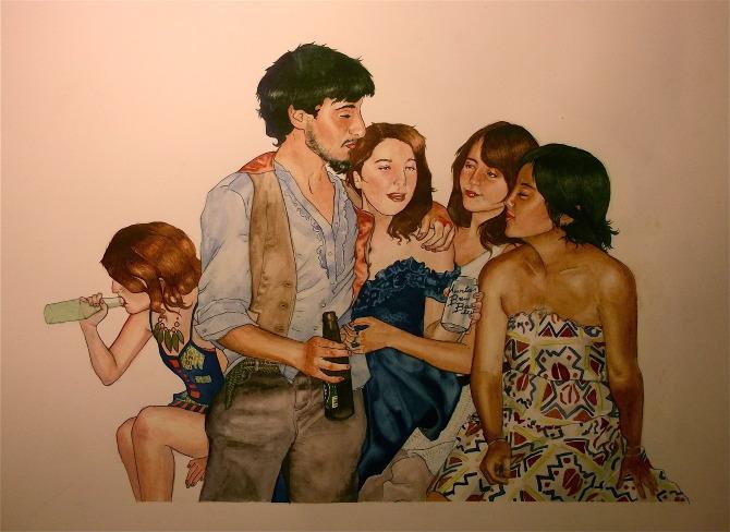 """Tessa, Sal, Krista, Emily, Chimi"" | Bayla Laks."