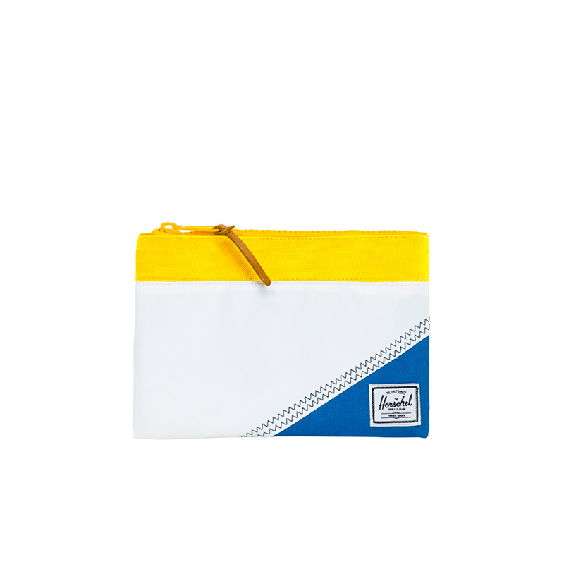 Field Pouch in White/Cardinal Yellow/Regatta Blue. | Herschel Supply Co.