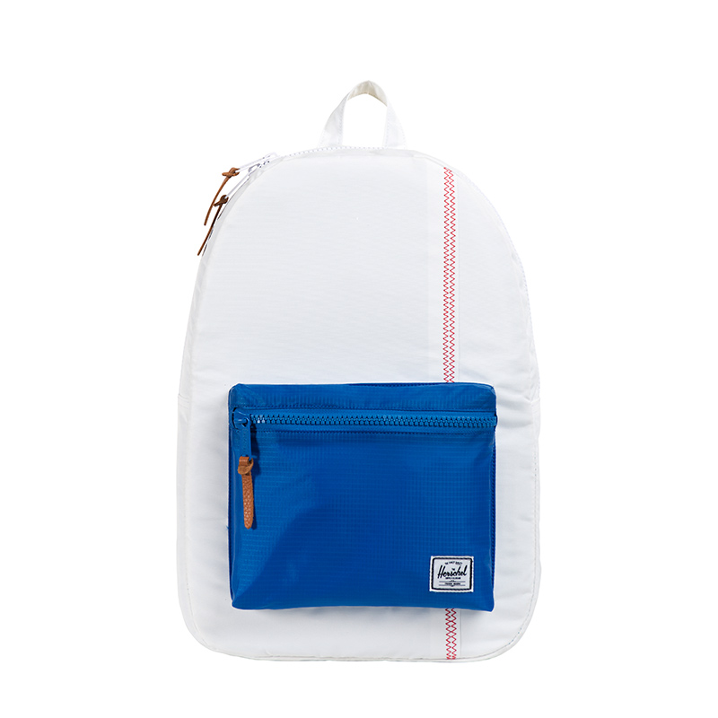 Settlement Mid in White/Regatta Blue/Cardinal Yellow.  | Herschel Supply Co.
