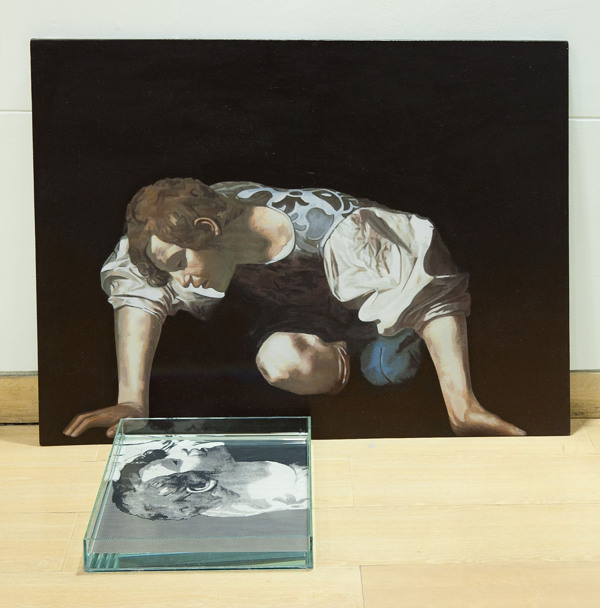 Narcisos (Apropiación Caravaggio - Oscar Muñoz) | Juan Fernando Escobar.