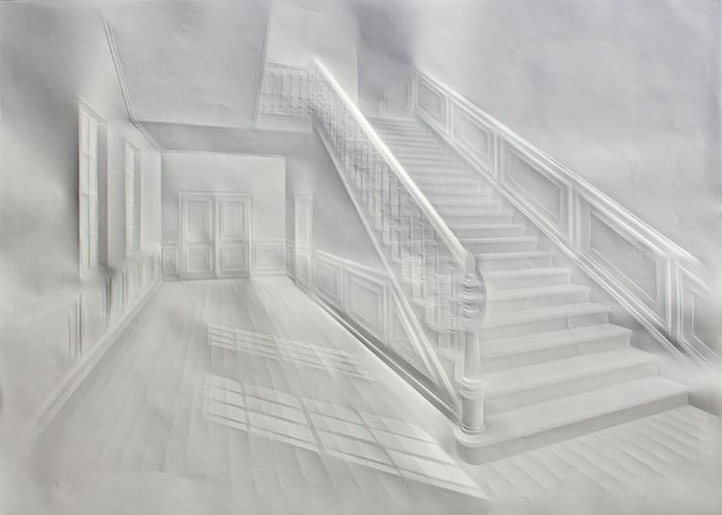 Quiet_Lunch_Magazine_Simon_Schubert_untitledLight-in-hall-with-stair70x100cm2014