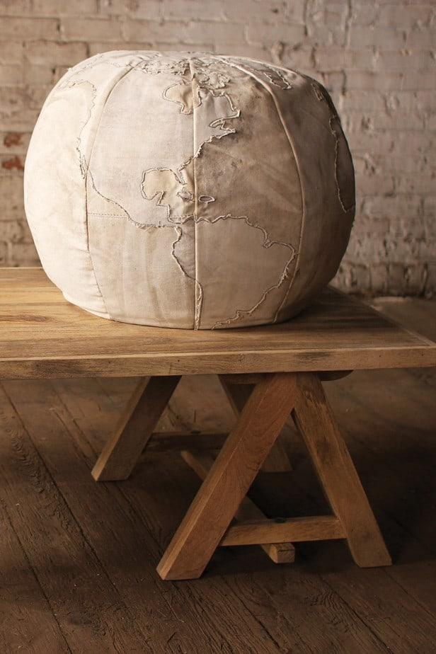 Quiet_Lunch_Magazine_Canvas Globe Pouf 2