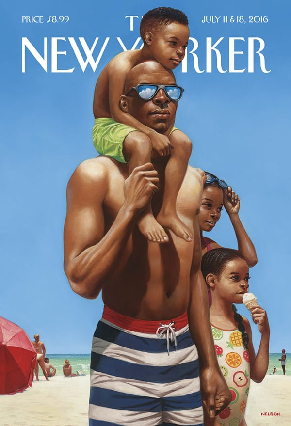 quiet-lunch-Kadir Nelson_A Day at the Beach
