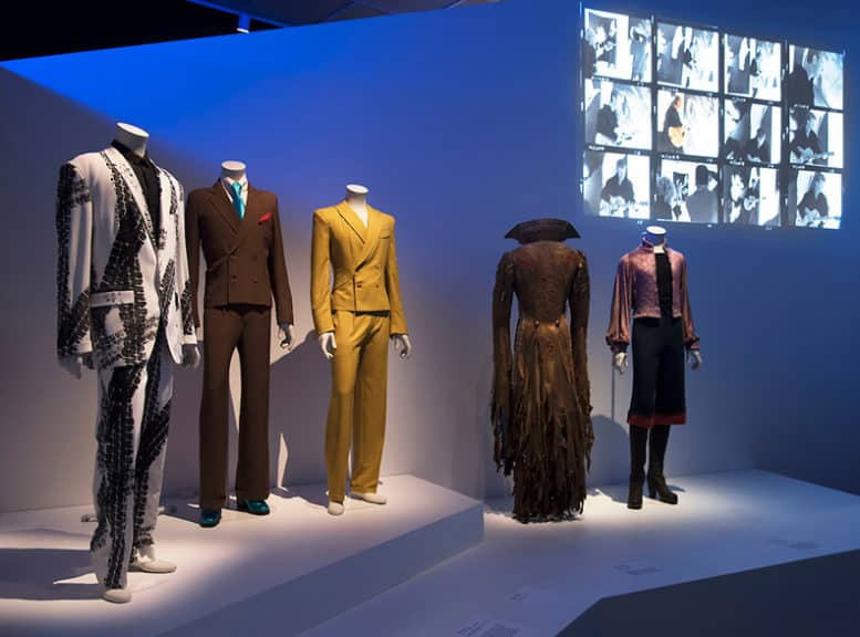 David Bowie is, March 2, 2018 through July 15, 2018, installation view of Costumes. (Photo: Jonathan Dorado, Brooklyn Museum)